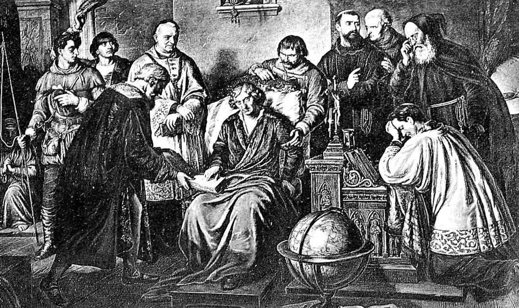 Atoli gardząc próżną ludzi chwałą, jeszcze prze 36 lat chował w ukryciu to światło umiejętności. Dopiero przy schyłku życia naleganie przyjaciół zmusiło go do wydania swego dzieła. To też kiedy mu wręczono ostatni arkusz drukowany do księgi w roku 1542, leżał już na łożu śmiertelnem, i zwątlony na siłach starzec wkrótce potem 24 maja tegoż roku zakończył życie doczesne, pełne zasług, zostawiając po sobie chlubne i słynne na cały świat wspomnienie.